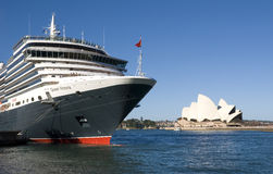 Queen Victoria Cruise Ship Sydney Opera House stock image