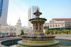 Queen Victoria Fountain at Merdeka Square, Kuala Lumper Malaysia. Queen Victoria Fountain at Merdeka Square, Kuala Lumper Malaysia is brought in from England on stock photography