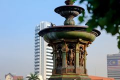 Queen Victoria Fountain at Merdeka Square, Kuala Lumper Malaysia. Queen Victoria Fountain at Merdeka Square, Kuala Lumper Malaysia is brought in from England on royalty free stock photo