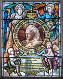 Queen Victoria Glass. Stained glass portrait of Queen Victoria Royalty Free Stock Photography
