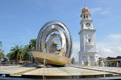 Queen Victoria Memorial clock tower. In Penang island,Malaysia stock images