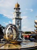 Queen Victoria Memorial clock tower in Malaysia Royalty Free Stock Photography