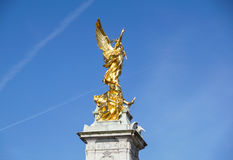 Queen Victoria Memorial in front of Buckingham Palace at London, England Royalty Free Stock Photos