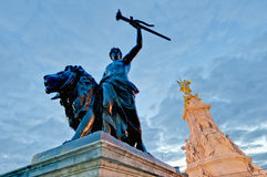 Queen Victoria Memorial at London, England Stock Photo