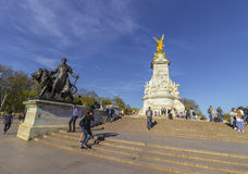 Queen Victoria Memorial in The Mall in London Stock Images