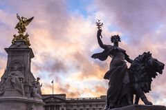 The Queen Victoria Memorial. The Queen Victoria Memorial is located in front of Buckingham Palace. stock image