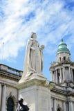 Queen Victoria Memorial Statue outside City Hall. Belfast (1906), Northern Ireland Stock Image
