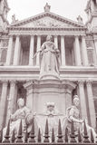 Queen Victoria Memorial Statue outside St Pauls Cathedral, Londo Royalty Free Stock Photos