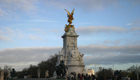 Queen Victoria Monument London. Queen Victoria Monument, found outside Buckingham Palace London royalty free stock images