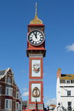 Queen Victoria's Jubilee Clock in Weymouth. Dorset erected in 1887 Royalty Free Stock Images