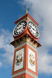 Queen Victoria's Jubilee Clock in Weymouth. Dorset erected in 1887 Royalty Free Stock Photos