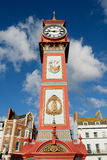 Queen Victoria's Jubilee Clock in Weymouth. Dorset erected in 1887 Royalty Free Stock Photo