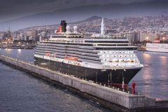 Cunard's Queen Victoria in Santa Cruz de Tenerife Royalty Free Stock Images