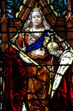 Queen Victoria in stained glass Stock Photos