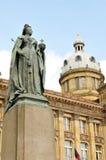 Queen Victoria statue in Birmingham. Architectural detail of Queen Victoria statue in Birmingham, United Kingdom Royalty Free Stock Image