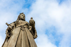 Queen Victoria Statue. Bronze statue of Queen Victoria in Southport. Created by Sir George Frampton royalty free stock photography