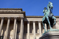 Queen Victoria Statue outside St. George's Hall in Liverpool Royalty Free Stock Photo