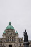 Queen Victoria Statue at Parliament Building, Victoria, Canada Stock Photos