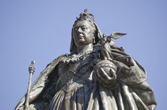 Queen Victoria Statue, Portsmouth. Bronze memorial statue of Queen Victoria (1819 - 1901) in Guildhall Square, Portsmouth.  Sculpted by Alfred Drury (1856 - 1944 Royalty Free Stock Image