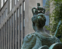 Queen Victoria statue from the university Royalty Free Stock Images