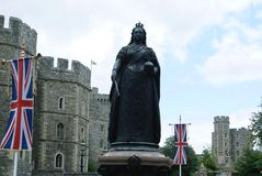 Queen Victoria Statue, Windsor castle, Berkshire, England, Europe Royalty Free Stock Photo