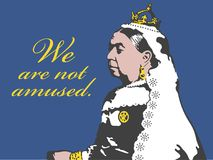 Free Queen Victoria We Are Not Amused Illustration. Royalty Free Stock Image - 117602786