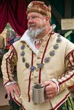 Arizona Renaissance Festival Royalty King. The Queen welcomes visitors to the Arizona Renaissance Festival Royalty Free Stock Image