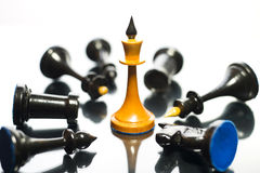 The queen wins victory. Chess. The queen wins victory Royalty Free Stock Images