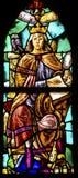 Queen Wisdom Stained Glass De Krijtberg Amsterdam Netherlands. Queen Wisdom Stained Glass Window De Krijtberg Church Amsterdam Holland Netherlands Stock Images