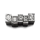 Queen word, letterpress Stock Image