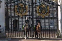 Queen&#x27 ; garde de s - Buckingham Palace - Londres - R-U Photos libres de droits