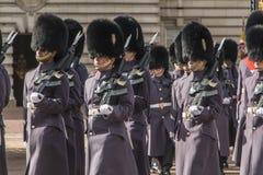 Queen' guardia de s - Buckingham Palace - Londres - Reino Unido Foto de archivo libre de regalías