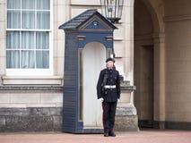 Queen& x27; guardia de s en el Buckingham Palace Foto de archivo