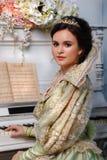 Queennear o piano Imagens de Stock Royalty Free