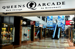 Queens Arcade - historic Auckland CBD shopping center Stock Photos