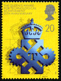 Queens Award for Technological Achievement UK Postage Stamp. GREAT BRITAIN - CIRCA 1990: A used postage stamp from the UK, celebrating the 25th Anniversary of Stock Photo