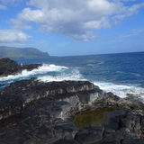 Queens bath Kauai Stock Images