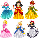 Queens in beautiful dresses Royalty Free Stock Photography