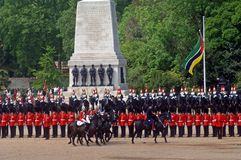 the Queens Birthday Parade. Royalty Free Stock Images