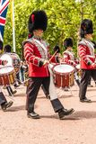 The Queens birthday Trooping the Colour royalty free stock photo