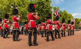 The Queens birthday Trooping the Colour stock photo