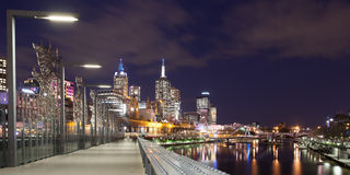 Queens Bridge View of CBD Royalty Free Stock Image