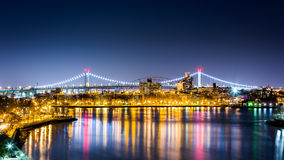 Queens cityscape by night Royalty Free Stock Images