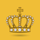 Queens crown design Royalty Free Stock Photography