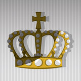 Queens crown design Royalty Free Stock Images