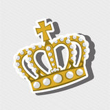Queens crown design Stock Photos