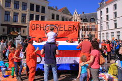 Queens day free market Royalty Free Stock Photos