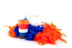Queens day in Holland. Attributes for queens day in Holland with colors of the flag Stock Photography