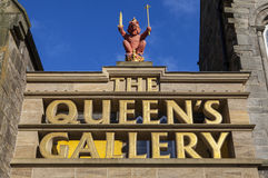 The Queens Gallery in Edinburgh. EDINBURGH, SCOTLAND - MARCH 10TH 2016: A view of the main entrance to the Queens Gallery in Edinburgh, on 10th March 2016 Stock Photos