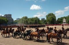 ?the Queen?s Geburtstag Parade?. Stockfotografie